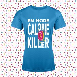 idée cadeau t-shirt running fun et original - En mode calorie killer - donut