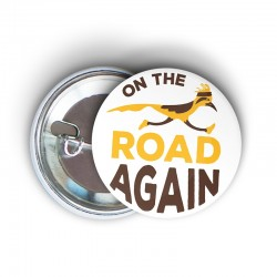 Badge road runner (blanc) - On the road again