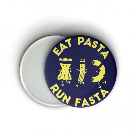 Magnet message fun running - Eat pasta run fasta - Cadeau course à pied
