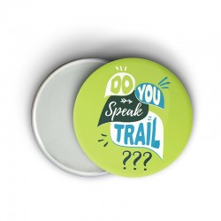 Magnet message humoristique running - Do you speak trail ? - Cadeau trail running