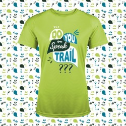 idée cadeau tee shirt trail running fun et original - Do you speak trail ?