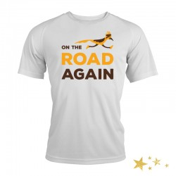 t-shirt running humour - on the road again - idée cadeau de Noël course à pied
