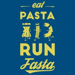 tee shirt running fun et original eat pasta run fasta (idée cadeau course à pied)