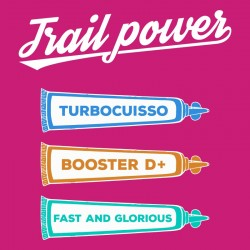 t shirt trail power - gel turbocuisso booster D+ Fast and glorious (idée cadeau course à pied)